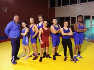 Gli atleti juniores con Campanella